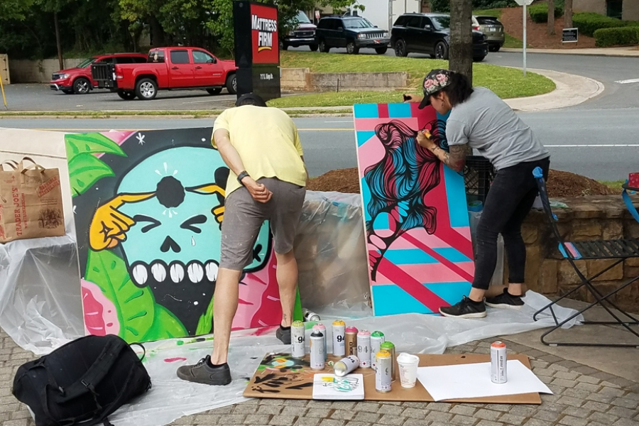 13. Artists Arko and Owl from Southern TIger Collective Painting LIVE!
